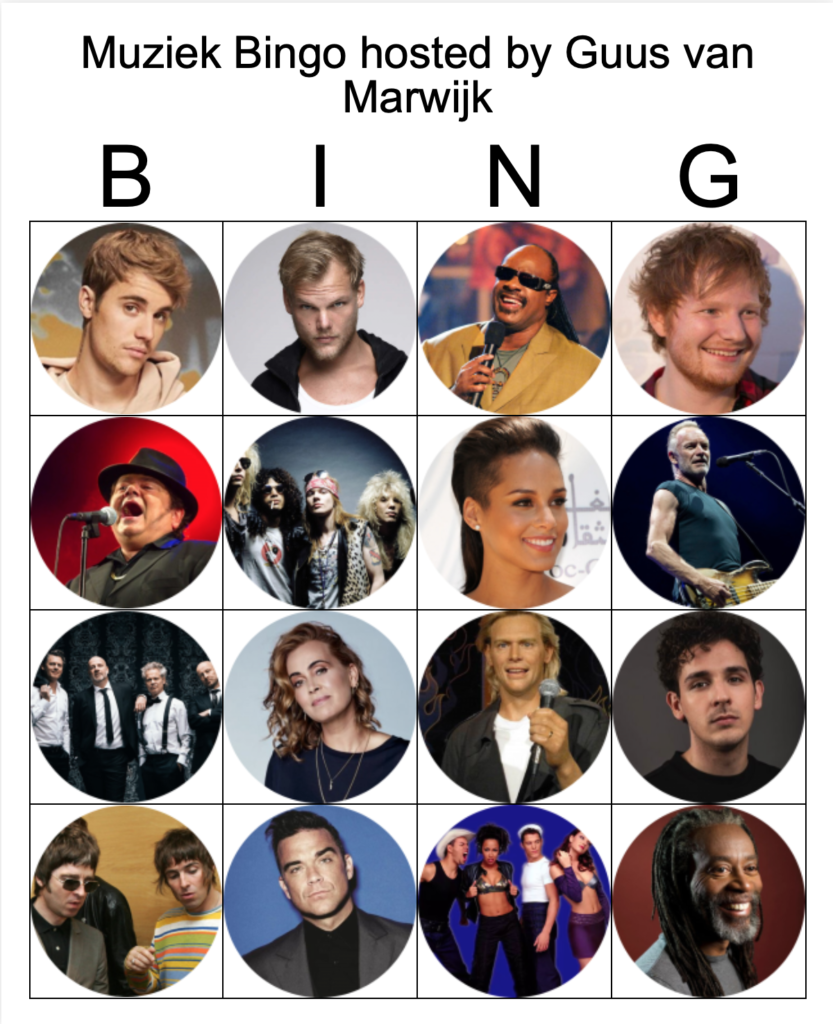 Bingo Muziek corona thuis blijven vrienden